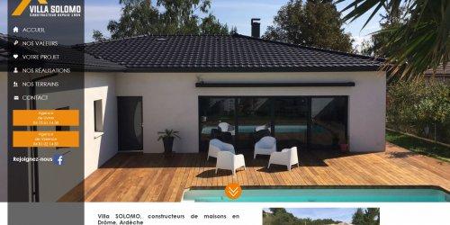 Illustration Création du site administrable de Villa SOLOMO, constructeur de maisons individuelles en Drôme et Ardèche.