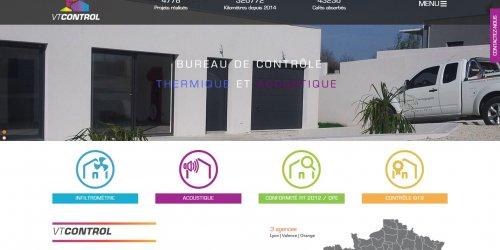 Illustration Création du site administrable de VT Control à Étoile-sur-Rhône (26)