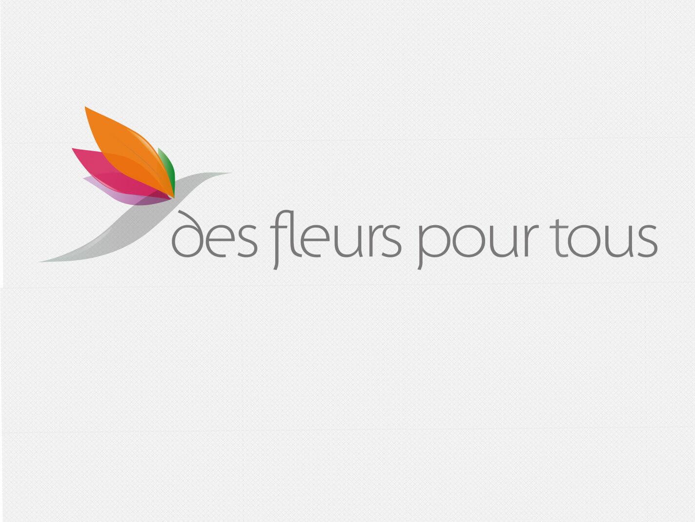 support de communication cr ation de logo pour des fleurs pour tous. Black Bedroom Furniture Sets. Home Design Ideas