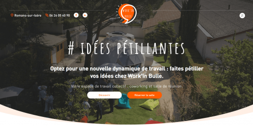 Illustration Création du site vitrine administrable : Work'in bulle