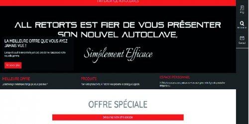 Illustration Création du site e-commerce de All Retorts sur Malataverne (26)
