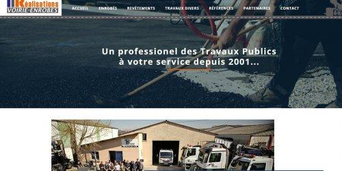 Illustration Refonte du site vitrine TP Réalisations en Drôme