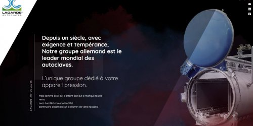 Illustration Création du site vitrine : Lagarde Autoclaves