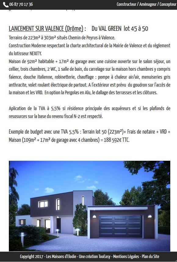 Cr ation du site administrable les maisons d elodie for Site de conception de maison
