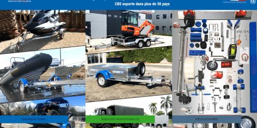 Illustration Création du site e-commerce PrestaShop : CBS Remorques