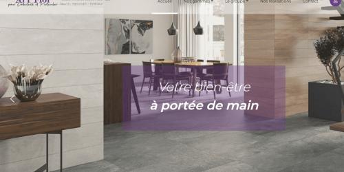 Illustration Création du site vitrine AL'L FLOR , à Lyon.