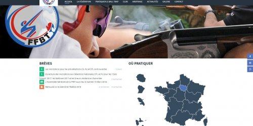 Illustration Création du site administrable de la FFBT (Fédération Française de Ball-Trap) à Malakoff (92)