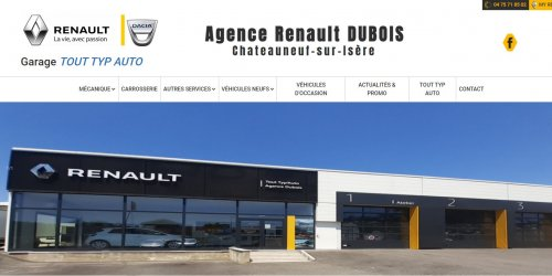 Illustration Refonte du site vitrine administrable : TOUT TYP AUTO