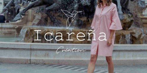 Illustration Création du site ecommerce Icarena vente en ligne de robe