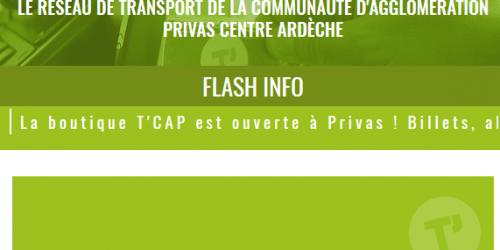 Illustration Création du site vitrine administrable T'CAP en Centre Ardèche