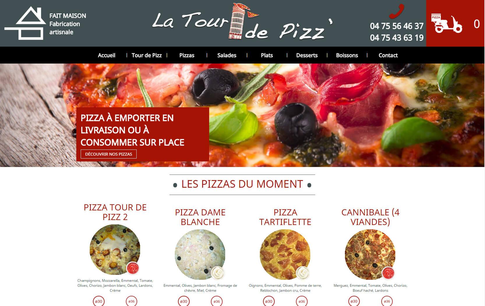 cr ation du site catalogue de la tour de pizz bourg l s valence 26 dr me. Black Bedroom Furniture Sets. Home Design Ideas