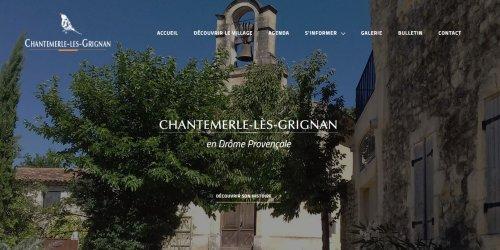 Illustration Création du site vitrine administrable : Chantemerle-lès-grignan