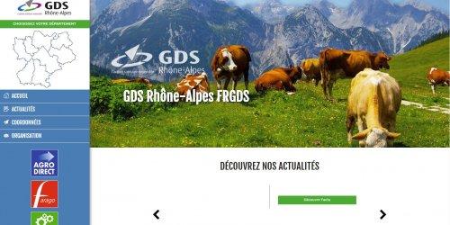 Illustration Création du site administrable de GDS Rhône-Alpes Lyon (Rhône)