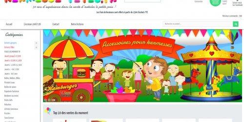Illustration Création site e-commerce PrestaShop de Kermesse-fetes, vente d'articles bazars et de jouets