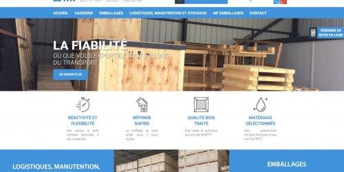 Illustration Création du site administrable de MF Emballages à Malissard (Drôme)