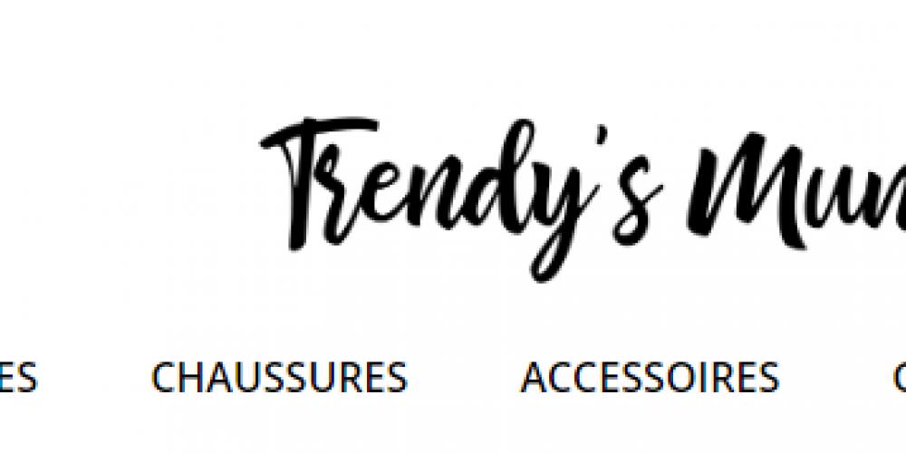 Page d'accueil Site e-commerce Trendys mummy