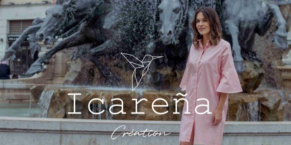 Page d'accueil Site e-commerce Icarena