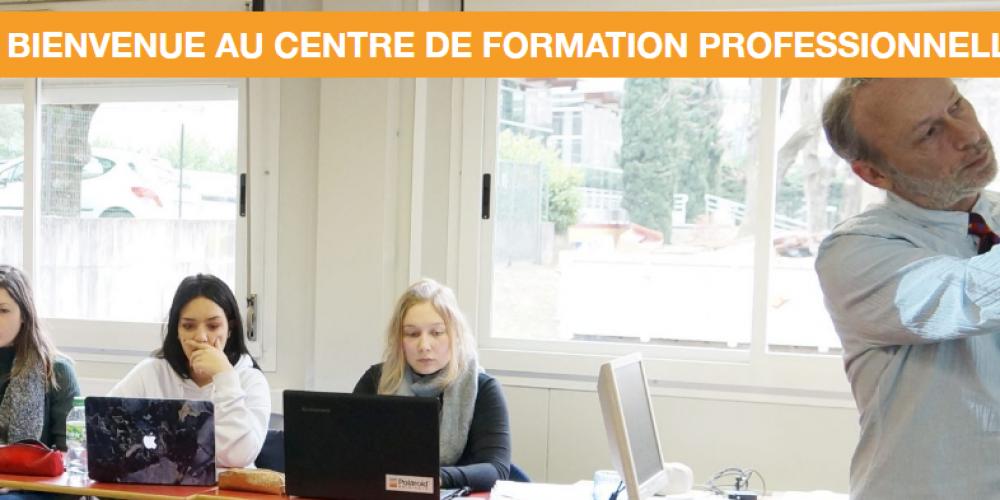 Page d'accueil site vitrine CFP-Montplaisir