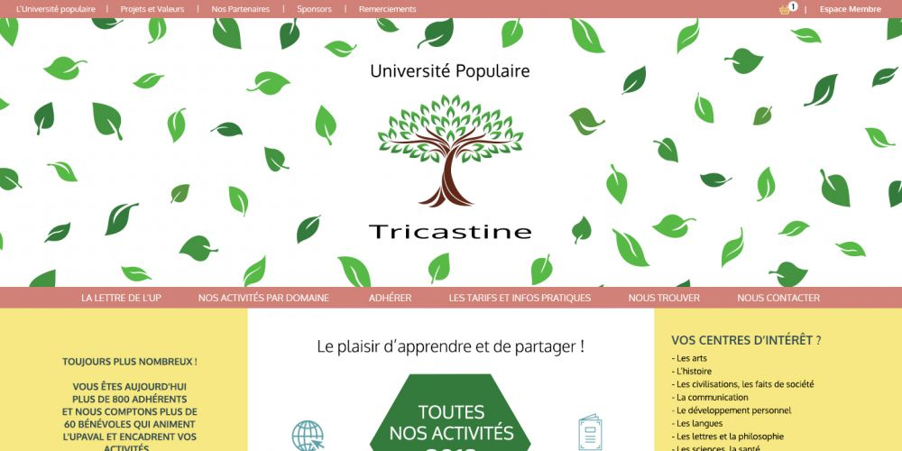 Page d'accueil Site e-commerce PHP