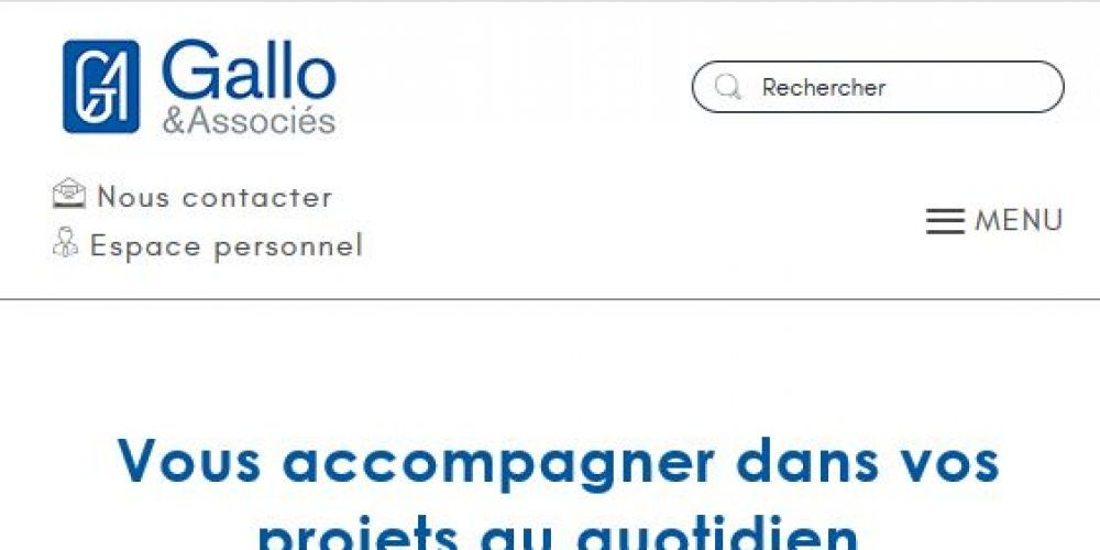 Page d'accueil Site administrable php