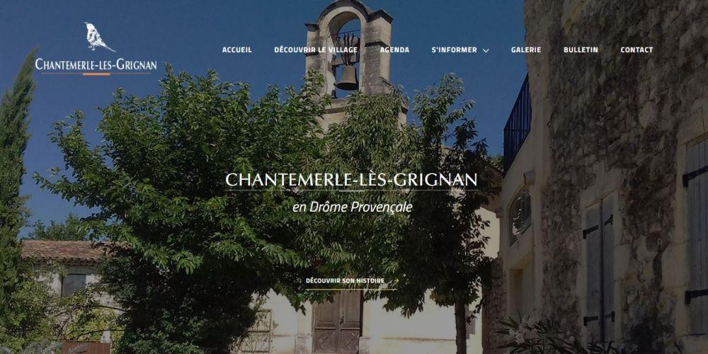 Page d'accueil site vitrine Chantemerle-lès-grignan