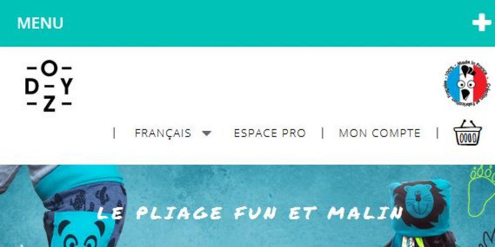 Page d'accueil Site e-commerce Prestashop