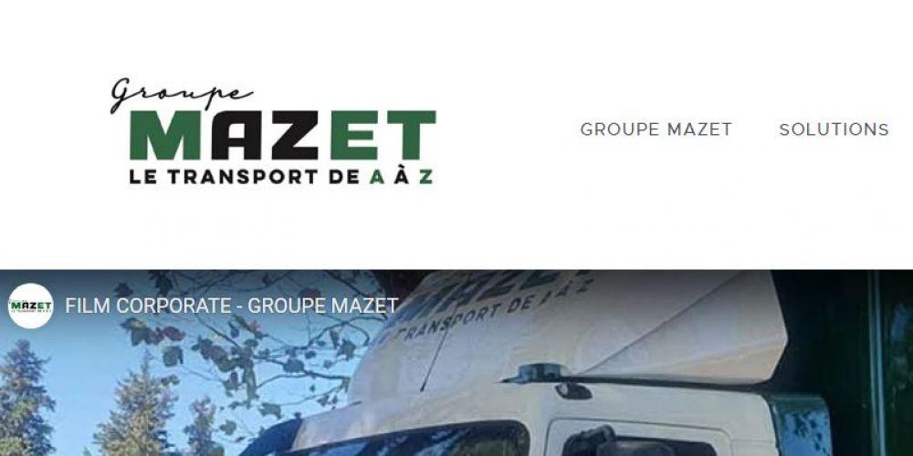 Page d'accueil site vitrine MAZET