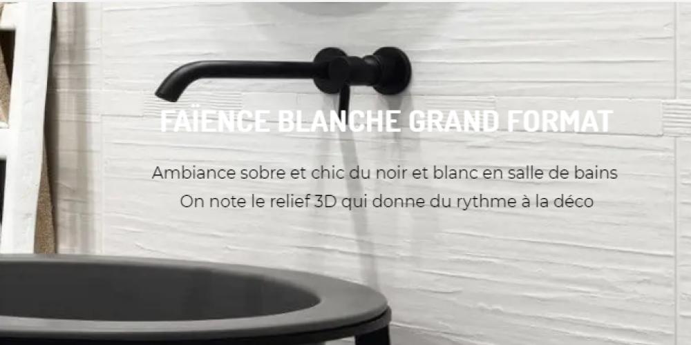 Page d'accueil Site e-commerce Carrelage 3D