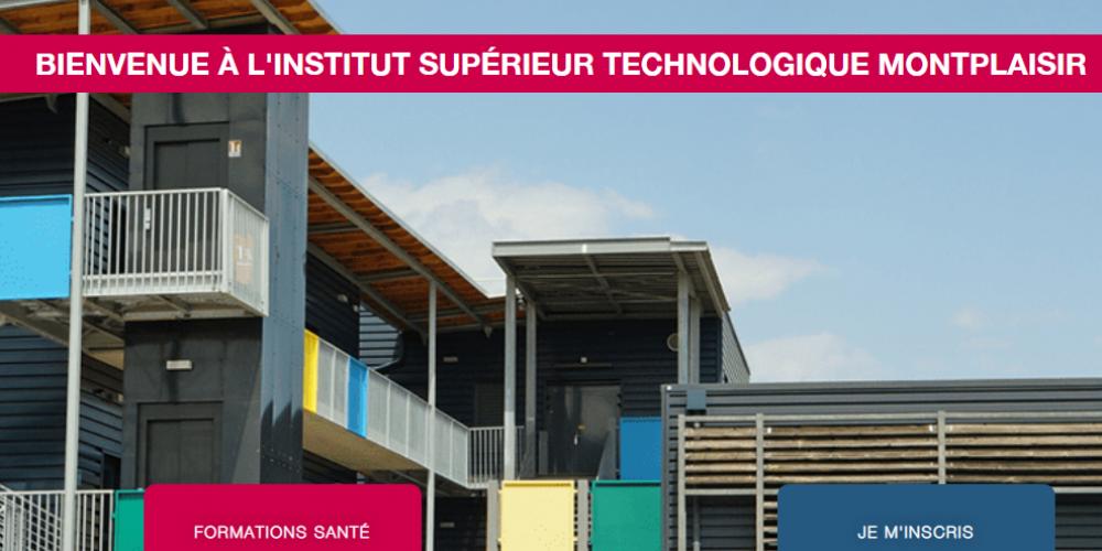 Page d'accueil site vitrine istm Montplaisir