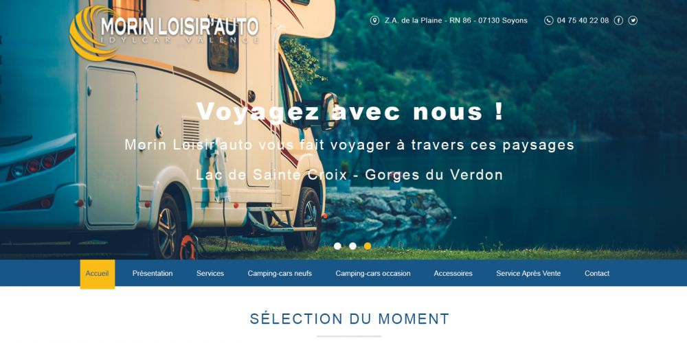 Page d'accueil Site Wordpress
