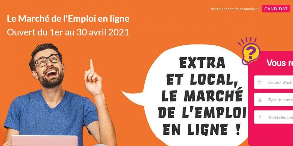 Page d'accueil site vitrine Le marché de l'emploi